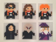Items similar to Harry Potter Coasters - Perler Beads Perler Bead Designs, Perler Bead Templates, Hama Beads Design, Diy Perler Beads, Perler Bead Art, Melty Bead Patterns, Pearler Bead Patterns, Perler Patterns, Beading Patterns