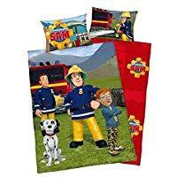 5fdbe7447a Baby Bettwäsche Wende Motiv  Feuerwehrmann Sam - Flanell 100x135 cm 40x60 cm