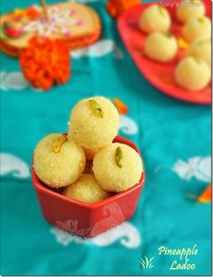 Pineapple Ladoo–Indian Sweet Recipe