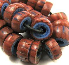 1 Strang 40 cm coloré MILLEFIORI Chevron Verre Perles environ Balle lampwork 8 mm