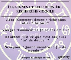Les Signes du Zodiaque et leurs dernières recherches Google