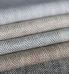 Patterned Roman Shades, Fabric Roman Shades, Pinch Pleat Curtains, Pleated Curtains, Grey Curtains Bedroom, Master Bedroom, Nursery Blinds, Herringbone Fabric, Living Room Accessories
