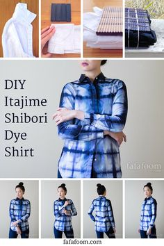 7 Tips for DIY Shibori Dyeing Your Shirt, Square Accordion Fold Style