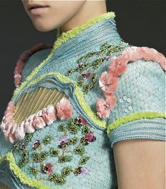 Versace. Learn how to add beads and sequins like this from experts who work for Chanel, Louis Vuitton and more at https://www.mastered.com/course-listings/3