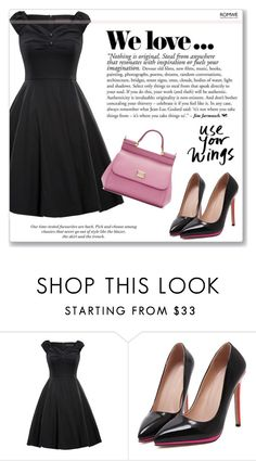 """Pink details"" by mihreta-m ❤ liked on Polyvore featuring Dolce&Gabbana and H&M"