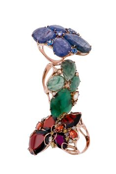 Flower Ring Stack by Federica Rettore.  #couture #jewelry #aspen