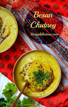 Besan Chutney/Bombay Chutney Recipe Besan Chutney/Bombay Chutney Recipe made using chickpea flour. This is a very unique chutney recipe which is best served with puri/idli/dosa/paratha