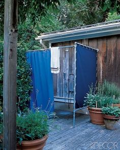 an outdoor shower inexpensive and i can always change my mind on location my biggest fear is once its done i cant change it