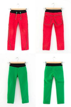 Watermelon Twisted Trousers - collage