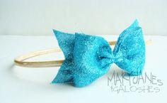 MaryJanes and Galoshes: Glitter Bow Headband Tutorial