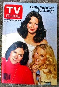 TV GUIDE - Charlie's Angels Feb 1978 - Kate Jackson, Jacklyn Smith, Cheryl Ladd