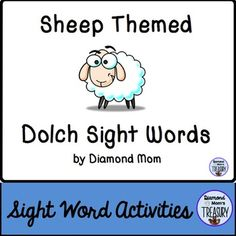 This set includes all 220 Dolch words and is in both color and black and white. It was inspired by the Chinese New Year zodiac. It can be played anytime.Sheep Sight Word Memory GameThe game is played as a typical memory game. You will need to make 2 copies of each sheet in order to do the matching.Sheep Sight Word Flash CardsUsing the same templates, practice the sight words in pairs or in sets.