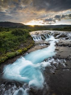 Turquoise Turbulence - Bruarfoss - Fludir - Iceland By Sandy Gennrich