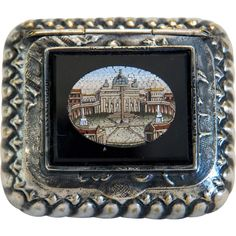 Antique Roman Micro Mosaic silver box century from chateau on Ruby Lane Ruby Lane, Roman, Vintage Box, Through The Looking Glass, Victorian Jewelry, Vintage Home Decor, Mosaic Glass, Antique Silver, 19th Century