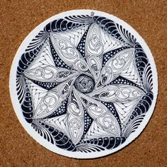 "Zendalas - Zen Tangles newest thing. @Patti Baldus for her amazing ""doodles"". :)"