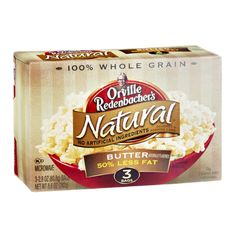 I'm learning all about Orville Redenbacker's Natural 50% Less Fat Butter Gourmet Popping Corn - 3 CT at @Influenster!