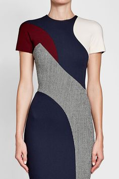 Printed Dress with Wool - Victoria Beckham | WOMEN | GB STYLEBOP.COM