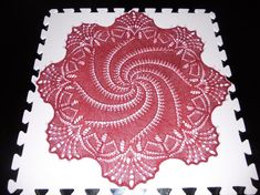You have to see Red Christmas Doily on Craftsy! Crochet Tablecloth, Crochet Doilies, Crochet Lace, Knitting Stitches, Knitting Patterns, Crochet Patterns, Doily Patterns, Stitch Patterns, Crochet Circles