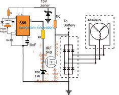 The post discusses a list of PWM controlled simple 3 phase motorcycle voltage regulator circuit which may be used for controlling the battery charging voltage in most two wheeler. Hobby Electronics, Electronics Projects, Electronics Components, Living In Brazil, Electronic Circuit Projects, Electronic Schematics, Electronic Parts, Circuit Design, Hydroponics System
