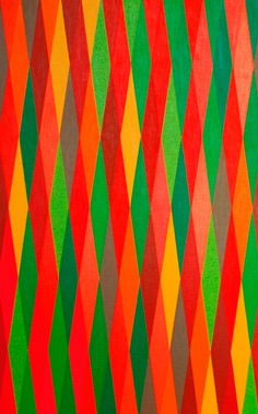 13 colours in repeating vertical sequence no. 2 by Raymond Brownell