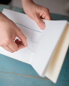 Scrapbooking and Memorykeeping Crafts: Simple Hand-Sewn Journals - Martha Stewart