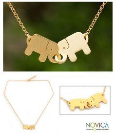 Elephant friendship necklaces. Adorable!