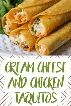 Looking for a great new party appetizer? Try these Cream Cheese and Chicken Taquitos, they're absolutely packed with flavour! – Rebel Without Applause Homemade Taquitos, Taquitos Recipe, Chicken Taquitos Baked, Air Fryer Dinner Recipes, Air Fryer Recipes Easy, Appetizers For Party, Appetizer Recipes, Chicken Appetizers, Cheese Recipes