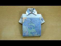 Fold banknote: shirt - make money gifts wedding - fold money - dress up . Diy Wedding, Wedding Gifts, Folding Money, Diy And Crafts, Arts And Crafts, Money Origami, Origami Design, Kids Corner, Christmas Crafts