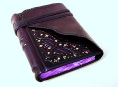 Leather Handbound Journal Notebook Relief Deep by Leatherdust