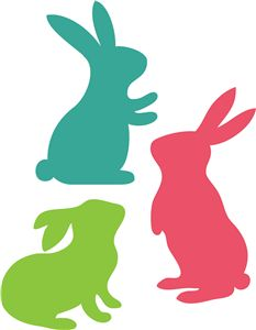 Easter bunny silhouettes