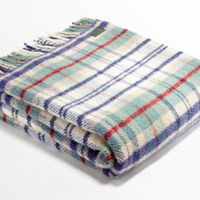 Tweedmill Lifestyle Cottage Check Throw - Coastal A beautiful high quality throw ideal for the bottom of a bed a throw for a chair or sofa or simply