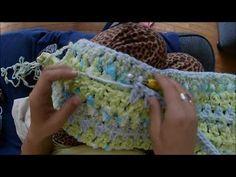 Easy Baby Blanket Using Bernat Baby Bundle Yarn (Crochet) 112 stitches hook, Bernat Chunky Yarn, Bernat Baby Yarn, Bernat Baby Blanket, Easy Baby Blanket, Baby Afghan Crochet, Blanket Yarn, Crochet Bebe, Chunky Crochet, Crochet Blanket Patterns