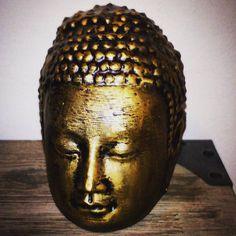 Dit model van een buddha hoofd (3d scan) is 3d geprint op de DrieDeeBox van ABS en nabewerkt met een goudwasproduct. #3dgeprint #3dprinted #3dprinting #driedeebox #3dprinten #3dwp www.3dwp.nl by 3dwp