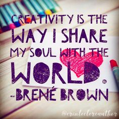 """I think creativity happens when our hearts and minds connect, and magic happens! When we get too """"in our head"""", is when writer's block… Writing Quotes, Heart And Mind, When Us, Connection, Writer, Encouragement, Creativity, Hearts, Mindfulness"""