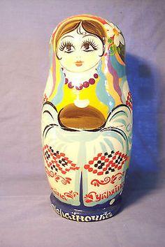 Vintage Authentic Soviet Russia Matryoshka 7 Set Nesting Dolls Hand Paint Signed | eBay