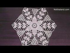 Crochet motif patterns Crochet motif tablecloth Part 1 // Вера Жилина