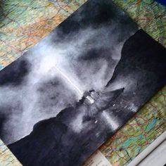 Harry Potter and the Deathly Hallows pt. 1 My artwork, hope you like it.  ...I use watercolors