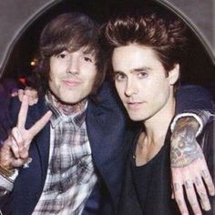 Oliver Sykes and Jared Leto