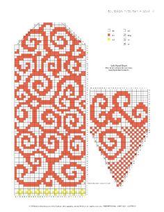 Bilder på veggen til felleskapet Crochet Mittens Free Pattern, Tapestry Crochet Patterns, Fair Isle Knitting Patterns, Knit Mittens, Knitting Charts, Knitting Socks, Knitting Designs, Knitting Stitches, Knitting Projects