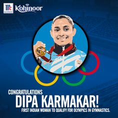 Kohinoor congratulates 22 year -old Dipa Karmakar on being the first Indian woman gymnast to qualify for Olympics. We are proud of you! #KohinoorWomenAchiever