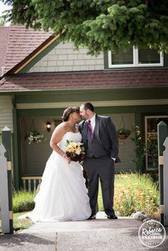Stolen kisses in front of the inn - http://rebeccaelliison.com