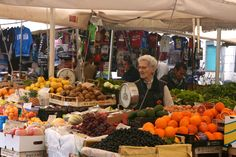 The stalls at the Campo de'Fiori Market have been passed down for generations. Many of the stall owners have worked everyday in the market for almost eighty years.