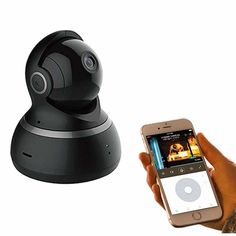 YI Smart Home Dome 1080P 2MP Camera – Black Home Camera, Security Camera System, How To Stay Awake, Wide Angle Lens, Smart Home, Night Vision, Gadgets, Essentials, Black