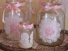 Frascos y botellas decorados