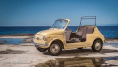 My Dream Car, Dream Cars, Fiat 500 Cabrio, Beach Rides, Funny Cars, Small Cars, Car Humor, Vroom Vroom, Vespa