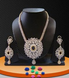 Multicolor american-diamonds necklace-sets