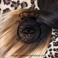 dark brown chestnut brown strawberry blonde platinum blonde ombre Intense Extensions bleeding style colored hair fashion