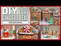 Easy How To Tutorial - In this video I will show you how to make these Gingerbread Christmas decorations. First is the window frame decor Eat Drink & Be Merr. Dollar Tree Christmas, Dollar Tree Crafts, Magical Christmas, Christmas Tree Decorations, Xmas Tree, Christmas Time, Christmas Crafts, Coffee Station Kitchen, Coffee Bars In Kitchen