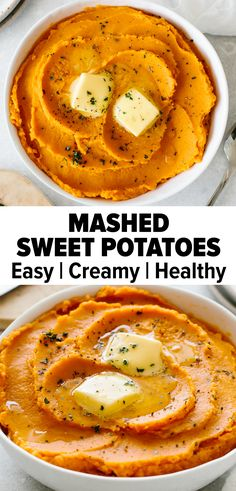 Oct 2019 - Mashed sweet potatoes make for the perfect sweet and savory side dish. It's rich, creamy, and pairs well with any main course, especially during Thanksgiving or Christmas. Just gather up 4 simple ingredients to whip up this delicious recipe. Sweet Potato Recipes Healthy, Vegetarian Recipes, Cooking Recipes, Healthy Recipes, Creamy Sweet Potato Recipe, Recipes For Sweet Potatoes, Skillet Recipes, Cooking Gadgets, Vegetable Recipes