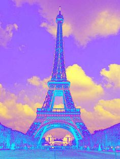 Love this Pop Art take on the Eiffel Tower